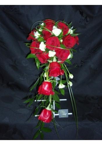 Bouquet cascade de roses