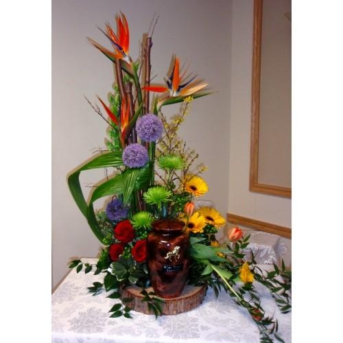 arrangement fun raire pour urne. Black Bedroom Furniture Sets. Home Design Ideas